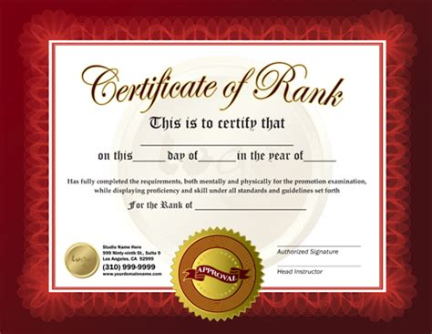 free martial arts certificates images gallery