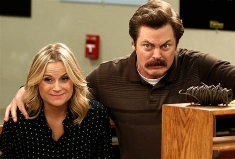 nick offerman the conners amy poehler nick offerman to host the handmade project