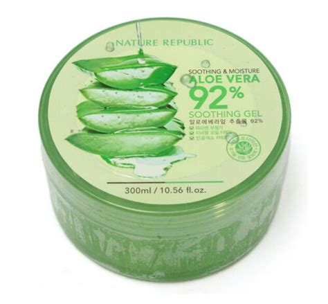 Nature Republic Aloe Vera Soothing Gel For Acne 300ml nature republic soothing moisture aloe vera gel 92