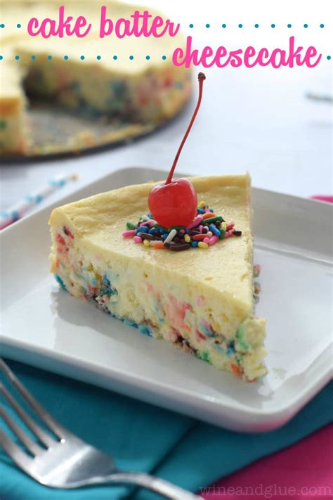 cake batter cheesecake wine glue