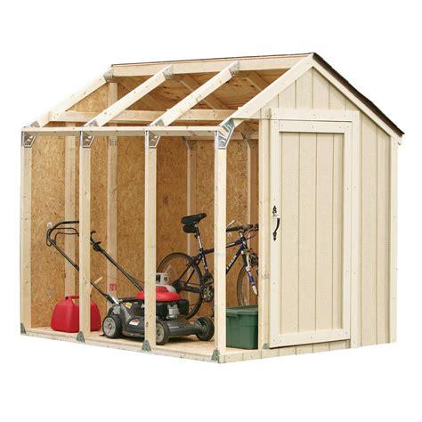 shed kit  peak roof   home depot