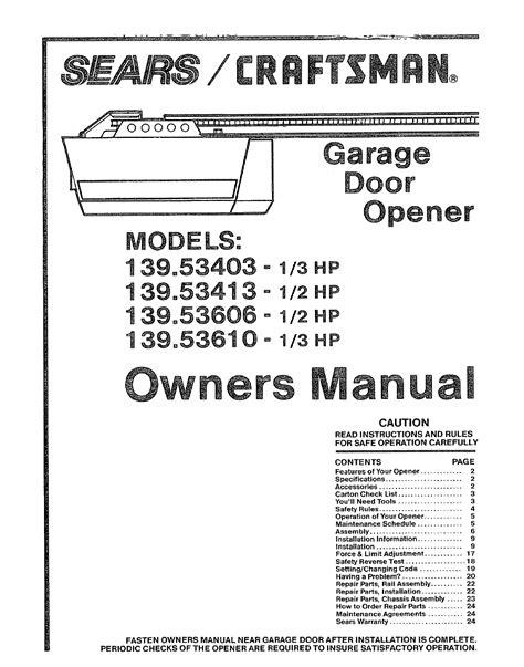 Overhead Door Opener Manual Craftsman 1 2 Hp Garage Door Opener Wiring Diagram Regarding Motivate Http Voteno123