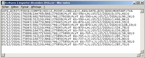 format fichier csv format du fichier d importation d 233 critures comptables