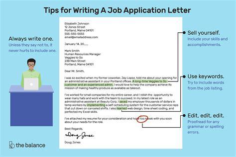 write job application letter samples