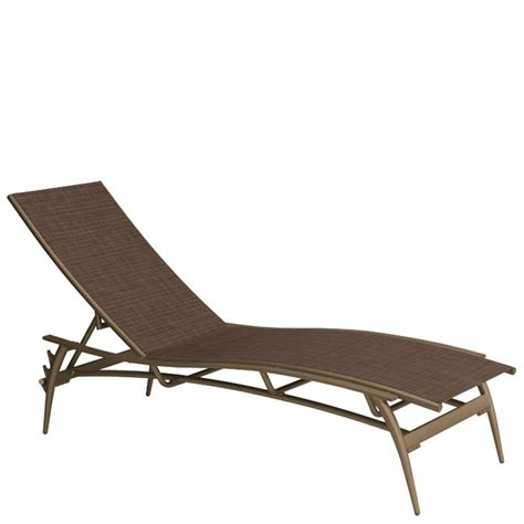 Sling Chaise Lounge Tropitone 189932 Echo Sling Chaise Lounge Discount Furniture At Hickory Park Furniture Galleries