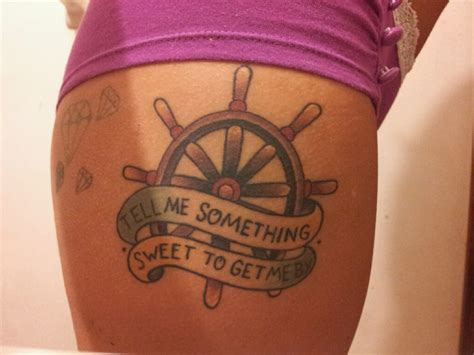ship steering wheel tattoo www imgkid com the image