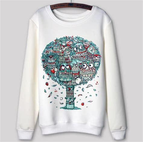 design baju elektronik jual 3d owl design baju sweater wanita trend 2015 mode