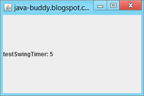 javax swing timer exle javax swing timer and java util timer 推酷