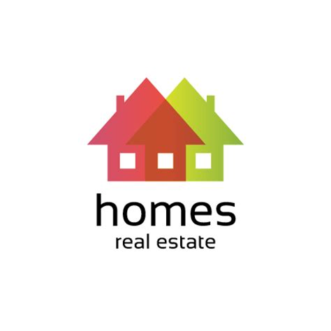 houses real estate homes real estate logo template buy vector logo for 10