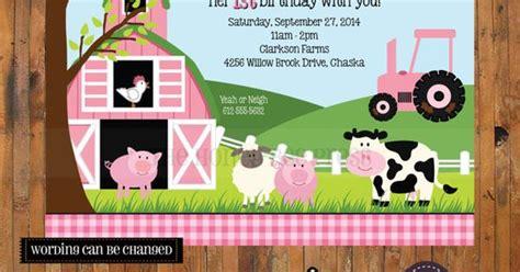 doodle doo theme farm animal birthday invitation barnyard birthday invite