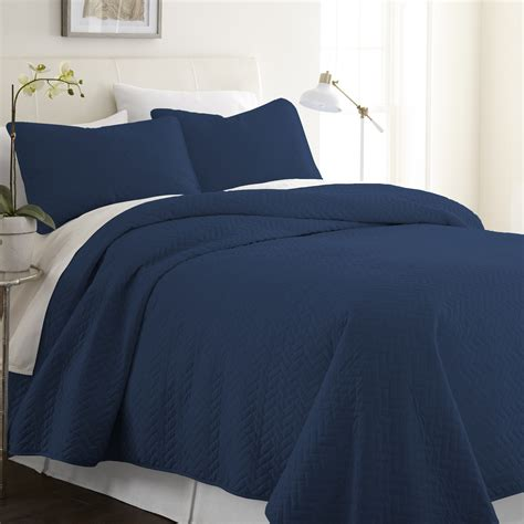 navy quilted coverlet wholesale soft essentials premium ultra soft herring