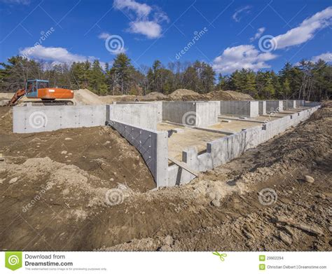 new home foundation new house foundation construction stock images image