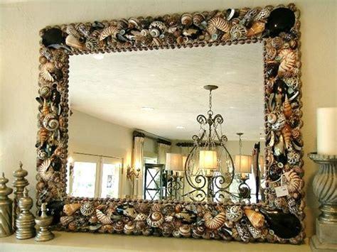 outstanding beachy bathroom diy shell mirror shell how to make seashell furniture zonal home