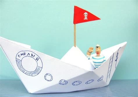 Craft Paper Boat - recycled crafts for how to make paper boat diy is