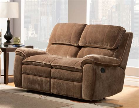 double chair recliner homelegance reilly love seat double recliner brown