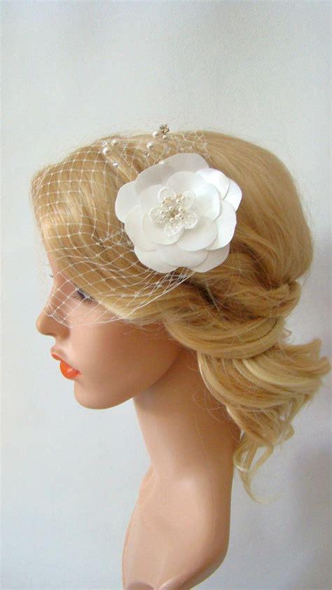 Wedding Hair Clip Veil by Birdcage Veil Wedding Veil Flower Hair Clip Bird Cage