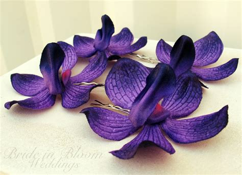 Wedding Hair Accessories Purple by Wedding Hair Accessories Royal Purple Orchid Bobby Pins