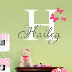 Name Wall Stickers girls name wall decal sticker butterfly wall decals
