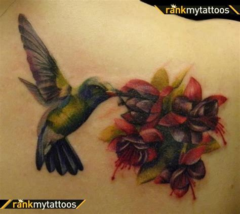 hummingbird and flower tattoo best cover up tattoos hummingbird cover up hummingbird
