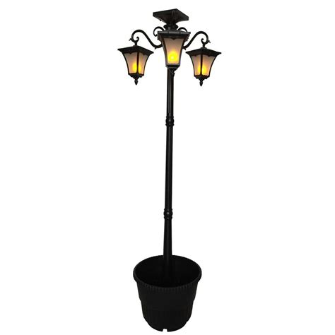 Nature Power Heritage 3 L Solar Powered Flame Effect L Post Solar Light