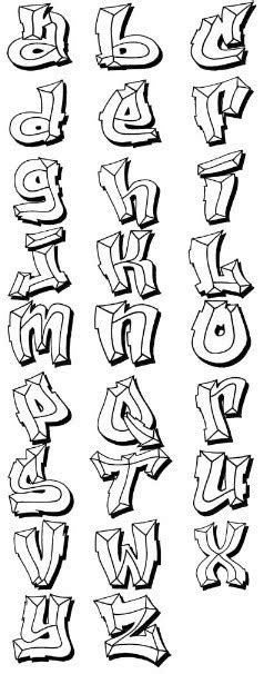 Bevel Style Graffiti Alphabet Letters H Alphabet In Style