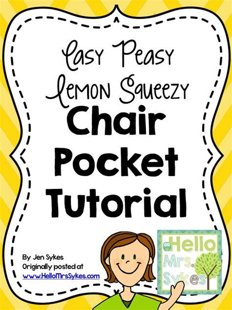 pattern for kindergarten chair pockets chair pocket tutorial easy peasy lemon squeezy hello