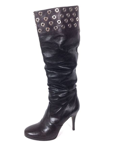 via spiga shoes 7 5 womens black leather boots for sale