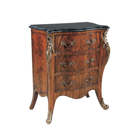Smith Furniture by Bedside Table In Mahogany With Three Drawers Maitland