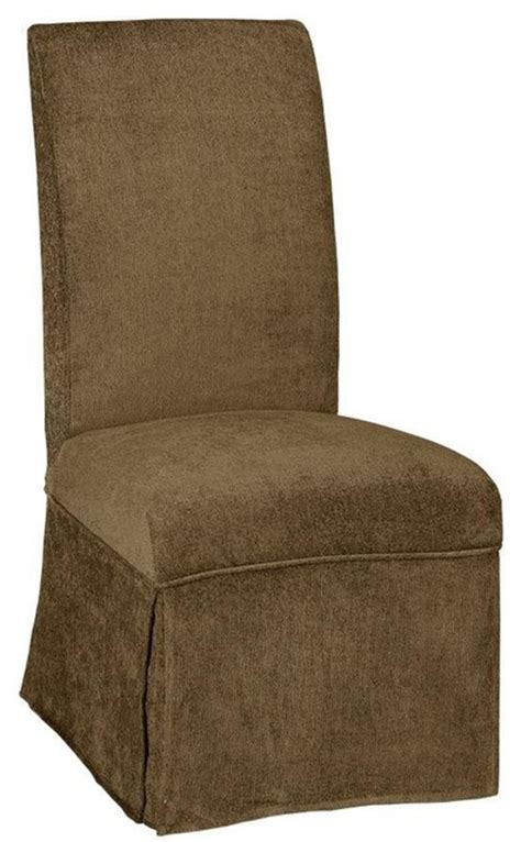 skirted dining chair covers parsons side chair skirted slipcover traditional