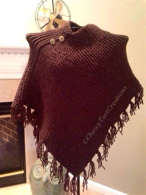 loom knit poncho loom knit fringe poncho chewy tart creations