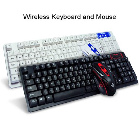 Keyboard Komputer Advance 3 color usb wired led backlit pc laptop computer advanced gaming keyboard mouse combo optical