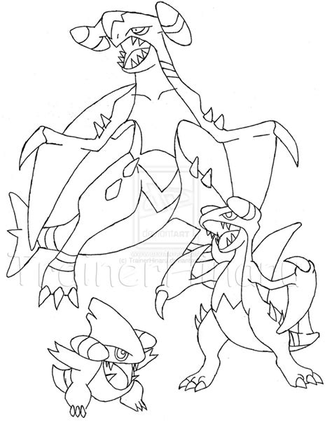 pokemon coloring pages garchomp gible pokemon coloring pages images pokemon images