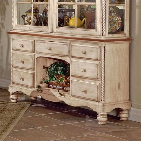 white hutch and buffet hillsdale wilshire buffet and hutch in antique white finish 4508bh