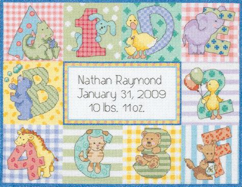 Cross Stitch Baby Birth Record Dimensions Baby Birth Record Counted Cross Stitch Craft Kit Select Your Design Ebay