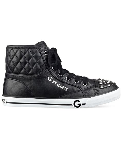 guess high top sneakers g by guess oana studded high top sneakers in black lyst