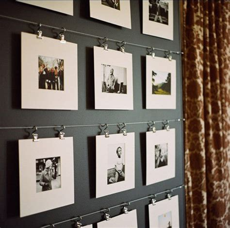 Hanging Pictures With Wire And Clips | 12 affordable tricks to originally bring photography into