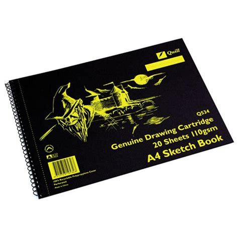 sketchbook q533 zqu10534 quill sketch book q534 a4 perforated 20 sheets