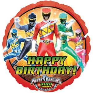 Happy birthday power rangers balloon