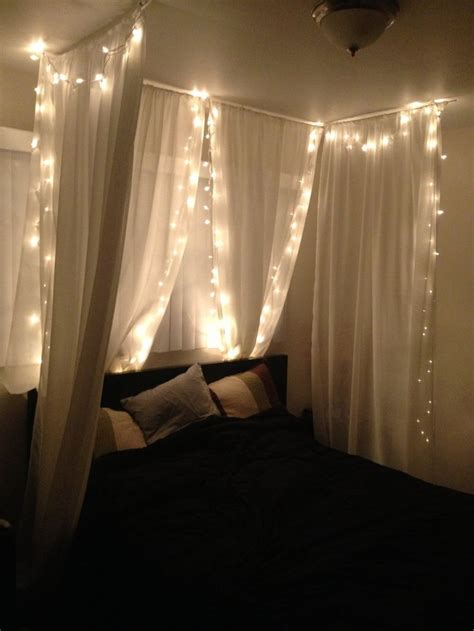 white string lights for bedroom 23 amazing canopies with string lights ideas canopy
