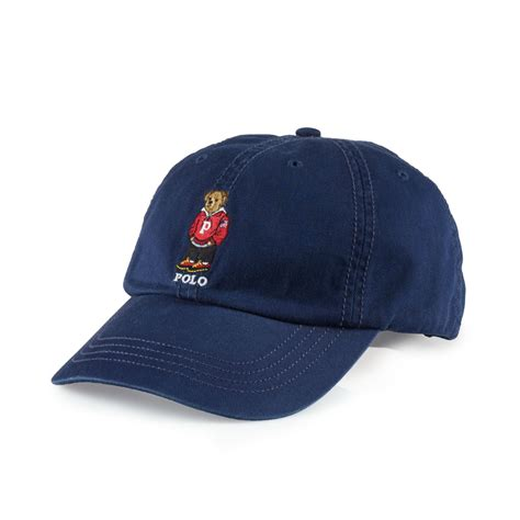 ralph chino polo baseball cap in blue for