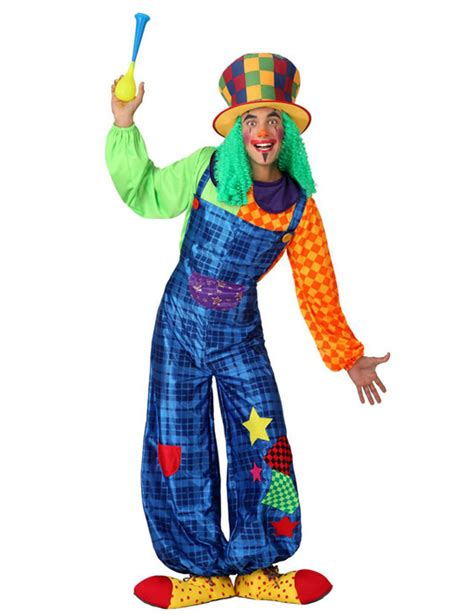 clown kostuem patchwork blau fuer damen kostueme fuer