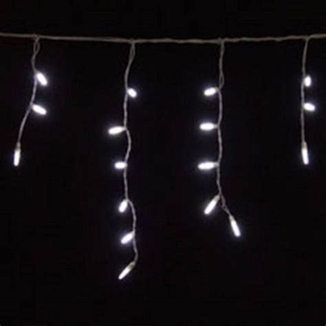 led icicle lights pure white 70 bulbs white wire yard