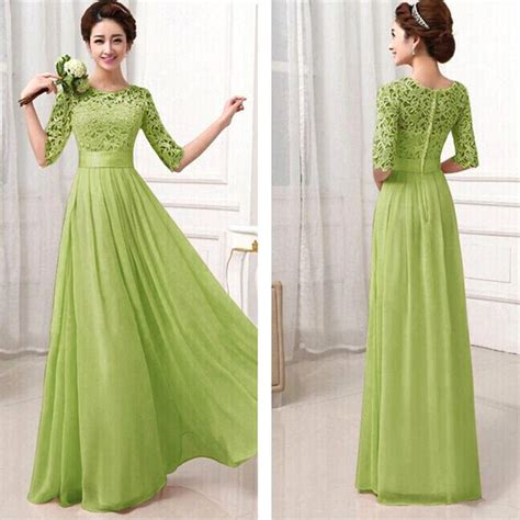 Bridesmaid Dresses Aza - 2015 new formal lace prom wedding maxi