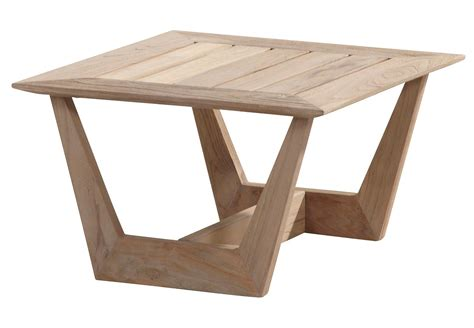 Outdoor Teak Table by 4 Seasons Outdoor Cancun Square Teak Coffee Table 0 6m