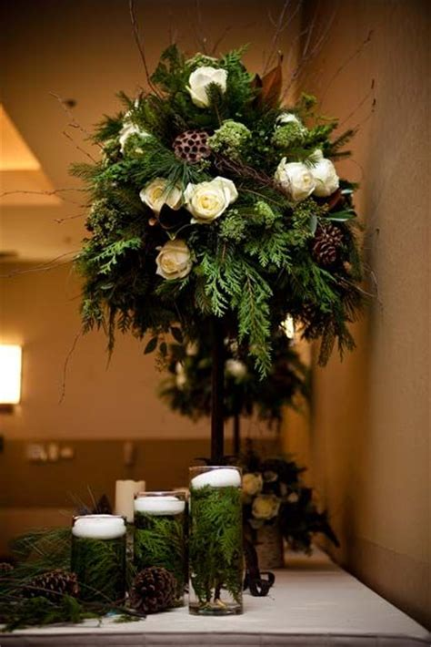 topiary wedding trees winter topiary winter wedding decor from www thewv