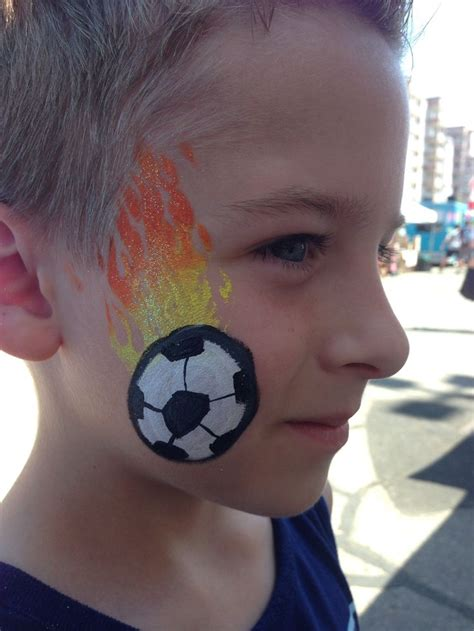 soccer ball with flames boy s face painting by let s 61 best images about christine s creations on pinterest