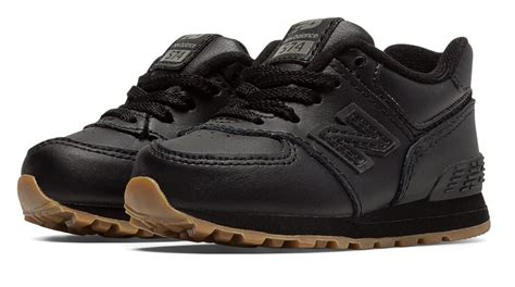Jual New Balance 574 Black new balance 574 leather in black for lyst