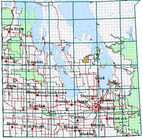 Map Township Range Section by Manitoba Municipal Government