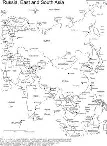 Printable Map Of Asia by Labeled Asia Map Print Colouring Pages