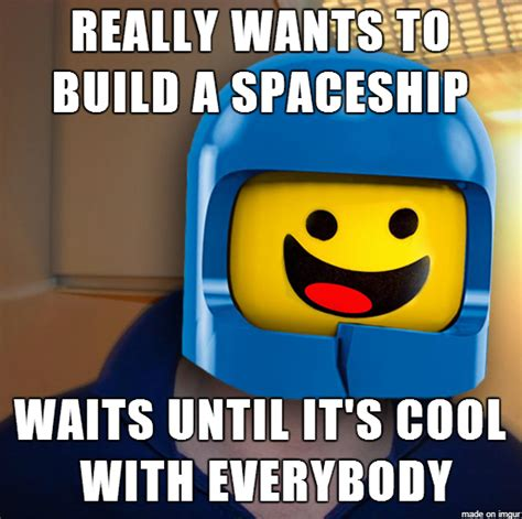The Lego Movie Meme - spaceship good guy benny meme guy